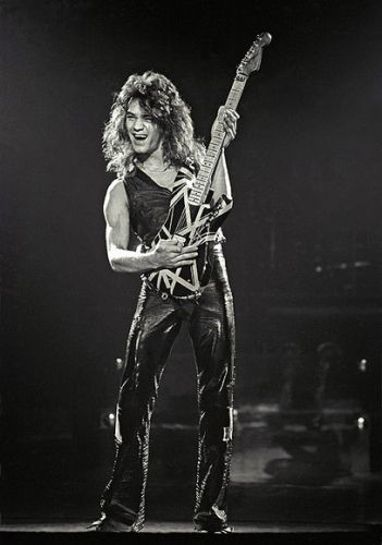 Eddie (Van Halen) guitar alien! changed the game; changed the whole damn stadium!!!  Best guitar....Its Black with yellow stripes and oh yes...it will be mine.