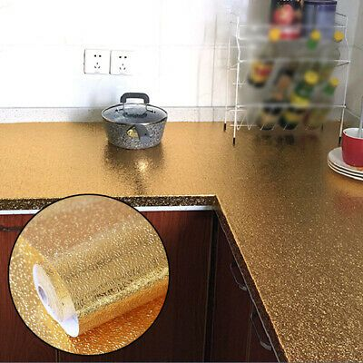 Self Adhesive Waterproof Oil-proof Aluminum Foil Kitchen Wall Sticker Home Decor