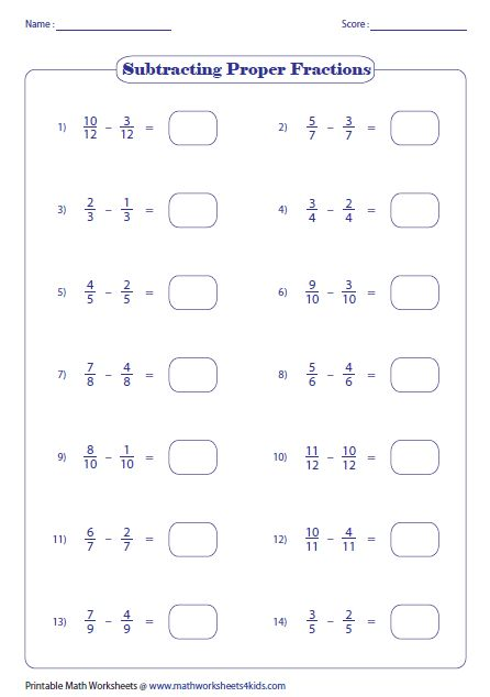 Worksheets Subtracting Fractions 2 Adding Fractions Adding Improper Fractions Fractions Worksheets