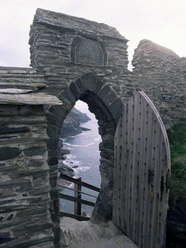 Tintagel, ancient ruins of King Arthur's home in Cornwall, England. The steps are a work-out. There is a lady's garden here with remnants of wild flowers growing - lovely to think that royal women wandered among the flowers . Stonehenge, The Places Youll Go, Places To See, Berlin Paris, Monuments, Cornwall England, North Cornwall, Cornwall Coast, Yorkshire England