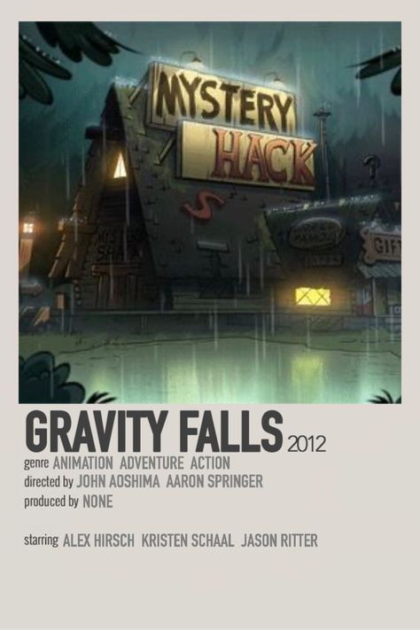 show poster: gravity falls