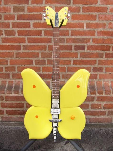 Rock City Custom Shop Butterfly 2008 Guitar For Sale Rock City Guitar Art, Music Guitar, Cool Guitar, Playing Guitar, Guitar Painting, Best Guitar Players, Cool Electric Guitars, Guitars For Sale, Learn To Play Guitar