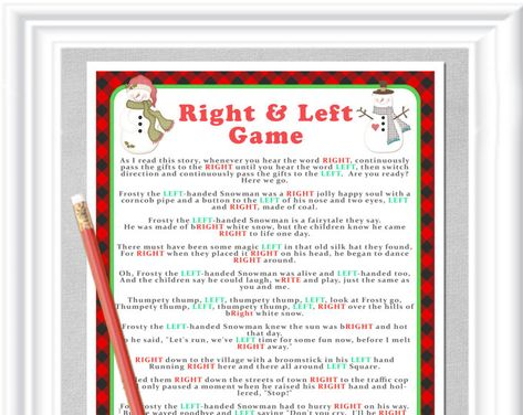 winter right left storygame in reds and greens instant download