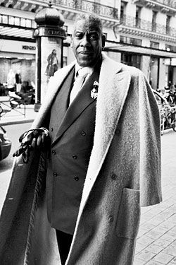 André Leon Talley in Paris, former American Vogue editor-at-large & front-row regular at fashion shows in New York, Paris, London & Milan for more than 25 years.