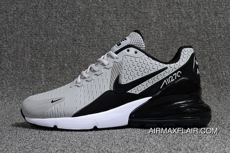 Nike Air Max 270 White Black Spectrum AH8050 101 Men's Women's Running Shoes AH8050 101B