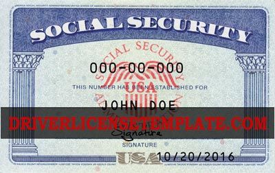 Driverlicensetemplate Com Social Security Card Photoshop Software Card Template