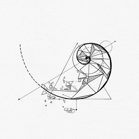 101 amazing fibonacci tattoo ideas you need to see 15 hypnotizing fibonacci spiral tattoos fibonacci spiral tattoos tattoo ideas artists … Pair Tattoos, 4 Tattoo, Tattoos For Guys, Tatoos, Fibonacci Tattoo, Geometry Tattoo, Geometry Art, Sacred Geometry, Psychology Tattoo