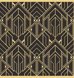 Abstract Art Deco Seamless Modern Tiles Pattern Vector Ornamenty