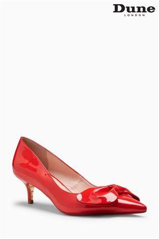 Dune Red Patent Berell Kitten Heel Court Shoe 80 Kitten Heels Heels Court Shoes