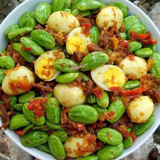 Oseng Pete Cumi Baby Credit Lusiaa Vv Bahan 300gram Pete Kupas Kulit 12 Butir Telur Puyuh Reb Good Healthy Recipes Diy Food Recipes Food Receipes