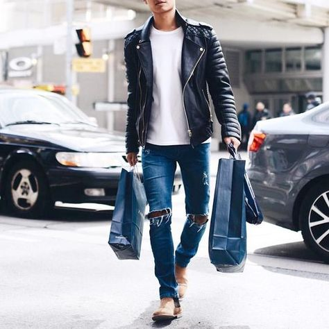 Ripped jeans for men have been in existence for a while, Nowadays, ripped, destroyed, distressed or tattered denim is all the rave. Ripped jeans have a very casual appeal which makes them the ultimate weekend wear.