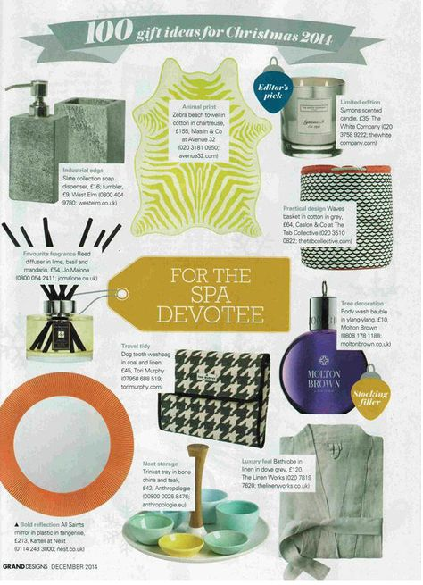 Christmas Gift Guide Magazine.Grand Designs Magazine Feature Our Dog Tooth Washbag In