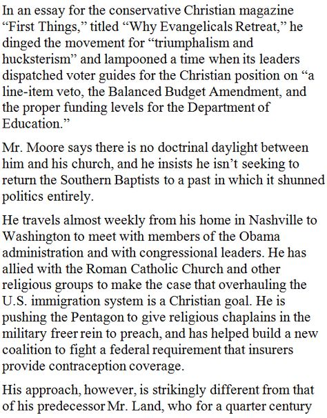 Post Judeo-Christian Evangelical Leader Preaches Pullback From