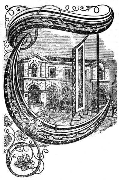 10 inch Photo. The Camden Town railway: Fenchurch Station, 1851