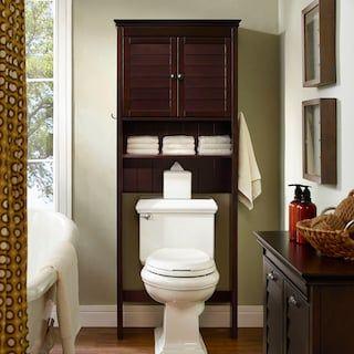 Sauder Caraway Bathroom Floor Cabinet Over Toilet Storage Crosley Furniture Space Savers