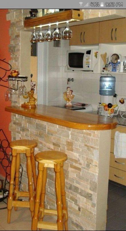Cozinha americana rustica simples