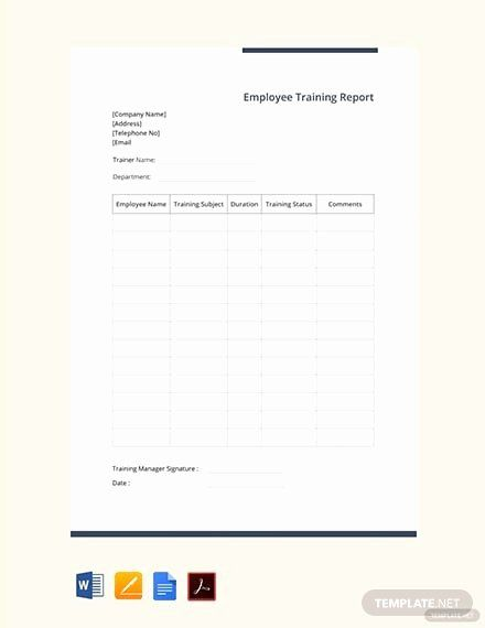 Employee Report Card Template Awesome Free Training Report Card Template Psd Report Card Template Card Template Templates