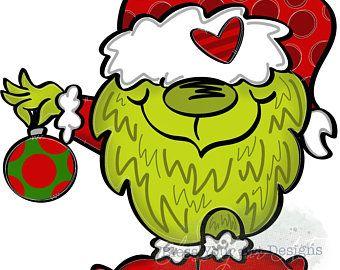 Template Sunbathing Gnome Christmas Drawing Cute Christmas Wallpaper Happy Paintings