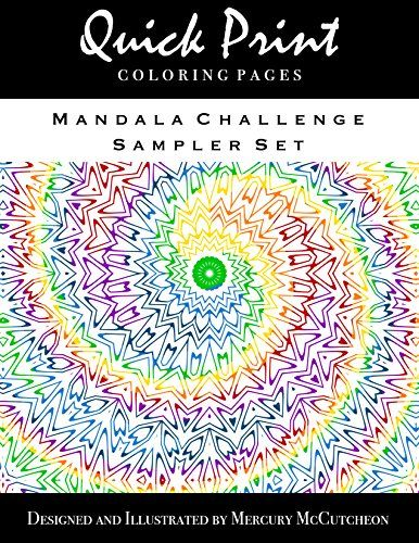 Mandala Challenge Sampler Set Quick Print Coloring Pages Series