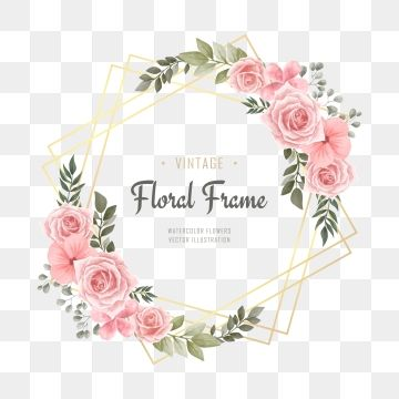 Watercolor Flowers Png Images Vector And Psd Files Free Download On Pngtree Watercolor Flower Background Flower Frame Png Watercolor Flowers