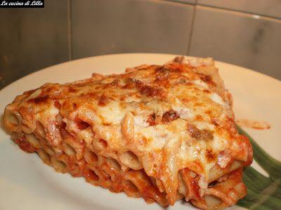 La cucina di Lilla: Primi: Lasagna di ziti | Ziti, Lasagne e ...