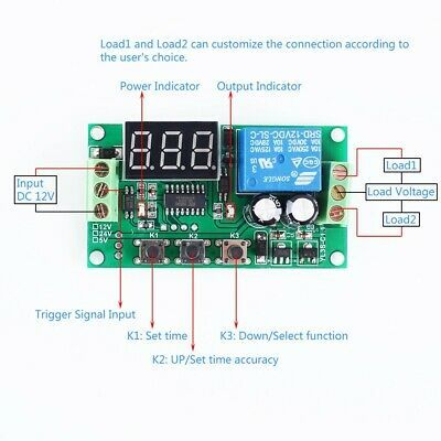 Ad Ebay Dc 12v Pulse Signal Triggermodule Signal Detector Delay Relay Switch Adjustable In 2020 Relay Detector Timer