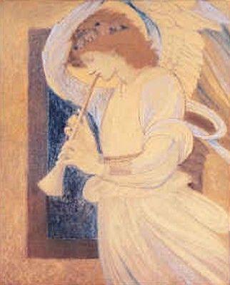 An Angel Playing A Flageolet By Edward Burne Jones Engel