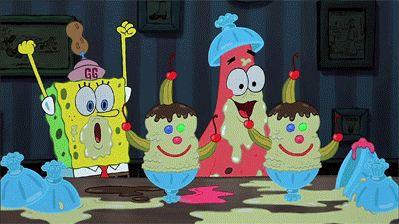 Any time SpongeBob and Patrick got