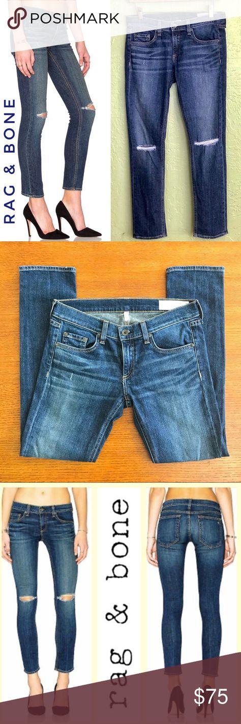 RAG & BONE Skinny Tomboy Jeans in Burnley Size 25 🔸 98% cotton, 2% polyurethane. Light fading...