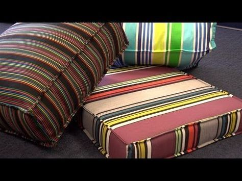 Creating a Couch Slipcover : Measuring Couch Slipcover Cushion Fabric - YouTube