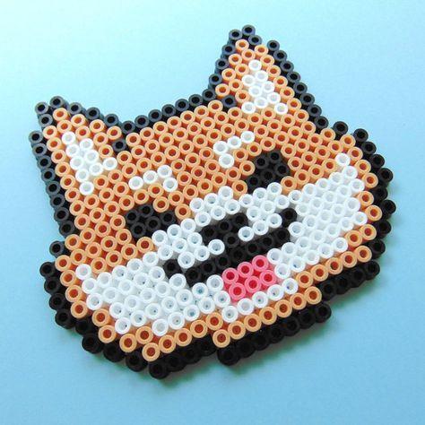 Hamaperlerfuse Bead Doge Meme Inspired Shiba Inu Pixel Art