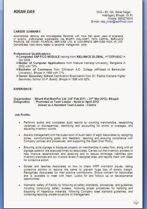 beautiful cv templates sample template example ofexcellent standard format of resume - Standard Format Of Resume