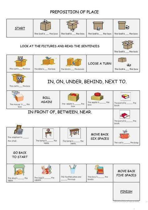 Preposition of Place Board game worksheet - Free ESL printable worksheets made b...- jo jo-#Board #boardgame #boardgamecheats #boardgamecheckers #boardgames #ESL #free #Game #place #Preposition #Printable #worksheet #worksheets
