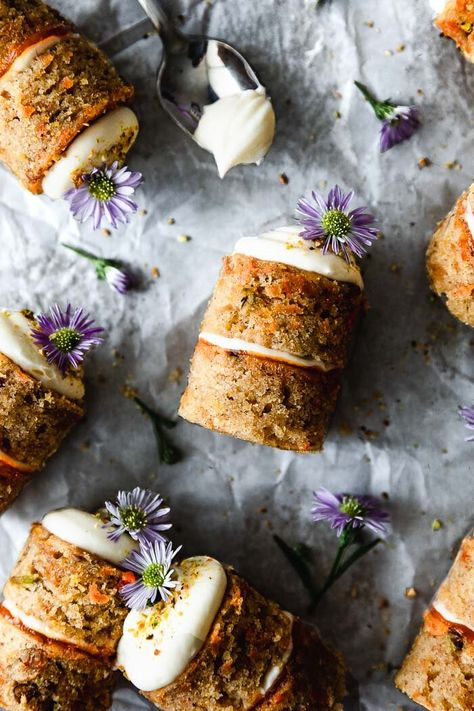 Mini Olive Oil Carrot Cakes with the Creamiest Cream Cheese Frosting — plum