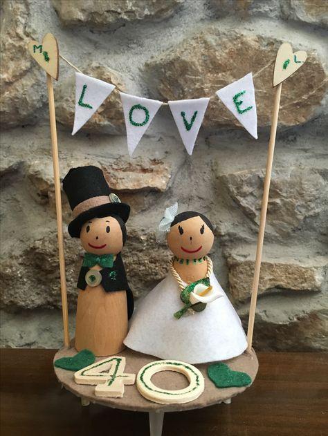Cake topper per 40'anniversario di matrimonio
