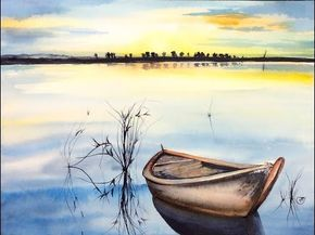 Watercolor Beach Painting Demonstration Full Video Youtube