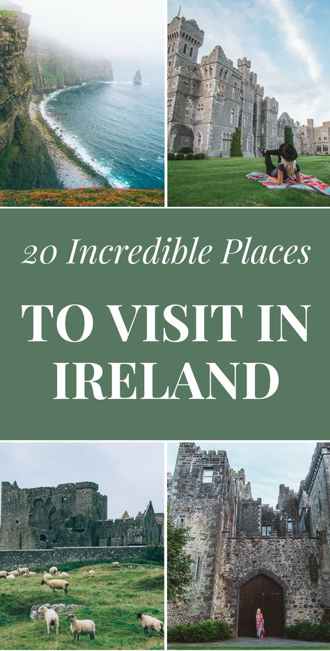 ireland honeymoon Ireland is one incredible place to visit if you know where to go and what to see. Make the best of your vacation and dive into Irelands incredible culture by ing our travel tips and suggestions on the top things to do in Ireland! Places To Travel, Places To See, Ireland Places To Visit, Ireland Travel Guide, Traveling To Ireland, Ireland Vacation, Honeymoon In Ireland, Italy Vacation, Travel Tips
