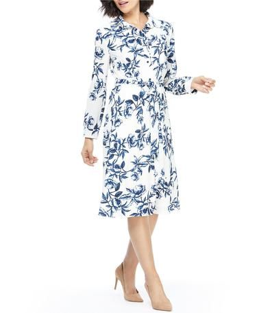Floral Dresses Print Dresses Floral Strappy Dress Navy And White Flowe In 2020 Long Sleeve Midi Shirt Dress Summer Dresses Uk Floral Dress Summer