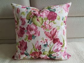 Colorful Tulip Pillow Cover Floral Pillow Case Pink Velvet Pillow Case Throw Pillow Pink Floral Cushion Cover Girls Room Decor Floral Cushion Covers Floral Pillows Floral Throw Pillows