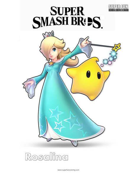 Rosalina Super Smash Bros Ultimate Nintendo Coloring Page Super Smash Bros Characters Super Smash Brothers Smash Brothers