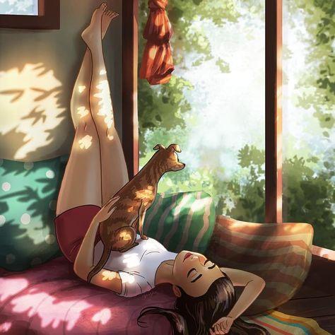 INDICAÇÃO DO DIA: Não dá para não se apaixonar por @yaoyaomva e suas ilustrações. Ela mostra a sua vida com o seu cachorrinho, em momentos que todas nós vivenciamos no nosso dia a dia. O perfil mostra a poesia do cotidiano. . . . #cotidiano #diaadia #estilodevida #lifestyle #ilustradores #ilustradora #ilustracao #ilustração #artista #arte