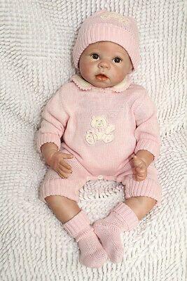 Reborn Baby Dolls 55cm Lebensechte Neugeborene Silikon Vinyl Mädchen Puppe
