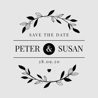 Download Minimalist Wedding Logo For Free In 2020 Wedding Logos Minimalist Wedding Floral Wedding Invitation Card