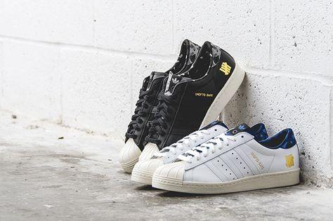 Bape x Undefeated x adidas superstar Collection sólo patadas