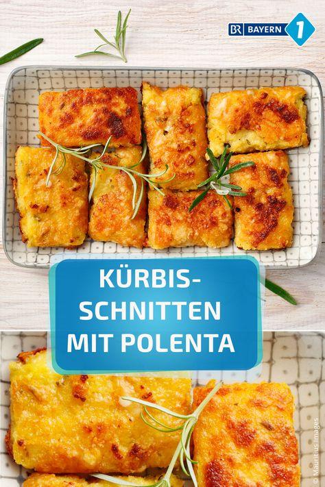 Kürbisschnitten mit Polenta - mit Parmesan gratiniert. So lecker wie in diesem Rezept hat Polenta noch nie geschmeckt!