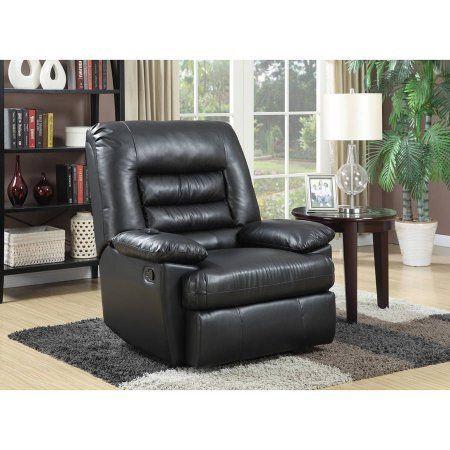 Serta Big Tall Memory Foam Massage Recliner Cr 46357 Black For