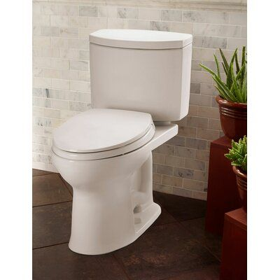 Toto Drake Ii 1 28 Gpf Water Efficient Round Two Piece Toilet Seat Not Included Two Piece Toilets Toto Water Sense