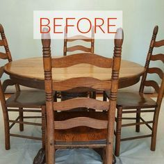 s 9 dining room table makeovers we can t stop looking at, painted furniture, Before A dark wood eyesore