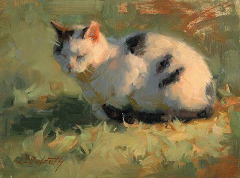 Cat Nap by Linda Volrath Oil ~ 6 x 8 Renaissance Paintings, Renaissance Art, Art Sketches, Art Drawings, Arte Indie, Classical Art, Pretty Art, Aesthetic Art, Oeuvre D'art