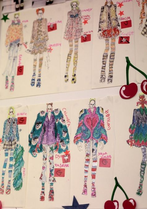 The Monster Mash Sketches by Edward Meadham for Meadham Kirchhoff Fall 2012 collection